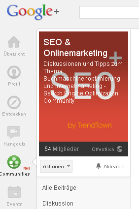 Google Plus SEO & Onlinemarketing Community